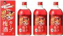【中国醸造】カープ梅酒3本セット 720ml×3本【2017年】