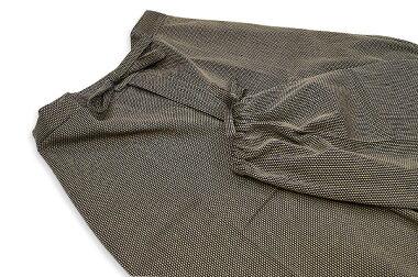 日本製高級-小柄刺し子織作務衣綿100%(濃紺・紺・黒・茶)S〜LL-1055【楽ギフ_包装】
