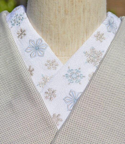 ブルー・クリスタルオブスノー・ちりめん☆刺繍 半...の商品画像