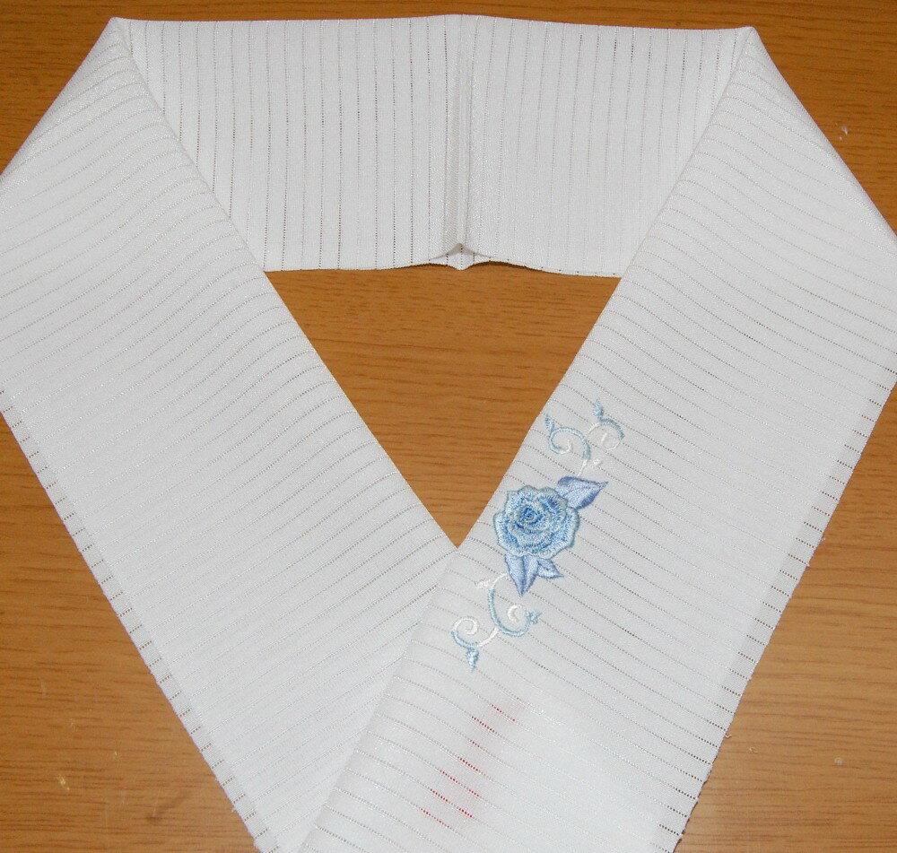 夏半衿 バラとツタ ワンポイント☆刺繍 半衿 ...の紹介画像3