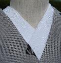 ライン蝶☆刺繍 半衿 ひめ吉オリジナルデザイン☆夏半襟・絽ゆうパケットは日時指定できません、ポスト投函です。