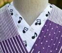 夏絽 音符の黒☆刺繍 半衿 ひめ吉オリジナルデザイン☆夏半襟・絽ゆうパケットは日時指定できません、ポスト投函です。