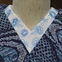 クラゲ 絽☆刺繍 半衿 ひめ吉オリジナルデザイン☆夏半襟・絽☆ゆうパケットは日時指定できません、ポスト投函です。