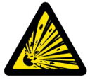 緑十字/(株)日本緑十字社 PL警告ステッカー 爆発物(破裂注意) 100mm三角 10枚組 PL-3(大) PL警告表示ラベル(簡易タイプ) 201003