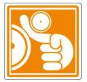 【ネコポス便対応可】緑十字/(株)日本緑十字社 PL警告ステッカー 巻き込まれに注意 100×100mm 10枚組 PL-13(大) PL警告表示ラベル(簡易タイプ) 201013