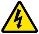 【ネコポス便対応可】緑十字/(株)日本緑十字社 PL警告ステッカー 電気危険(高電圧危険) 25mm三角 10枚組 PL-5(小) PL警告表示ラベル(簡易タイプ) 203005