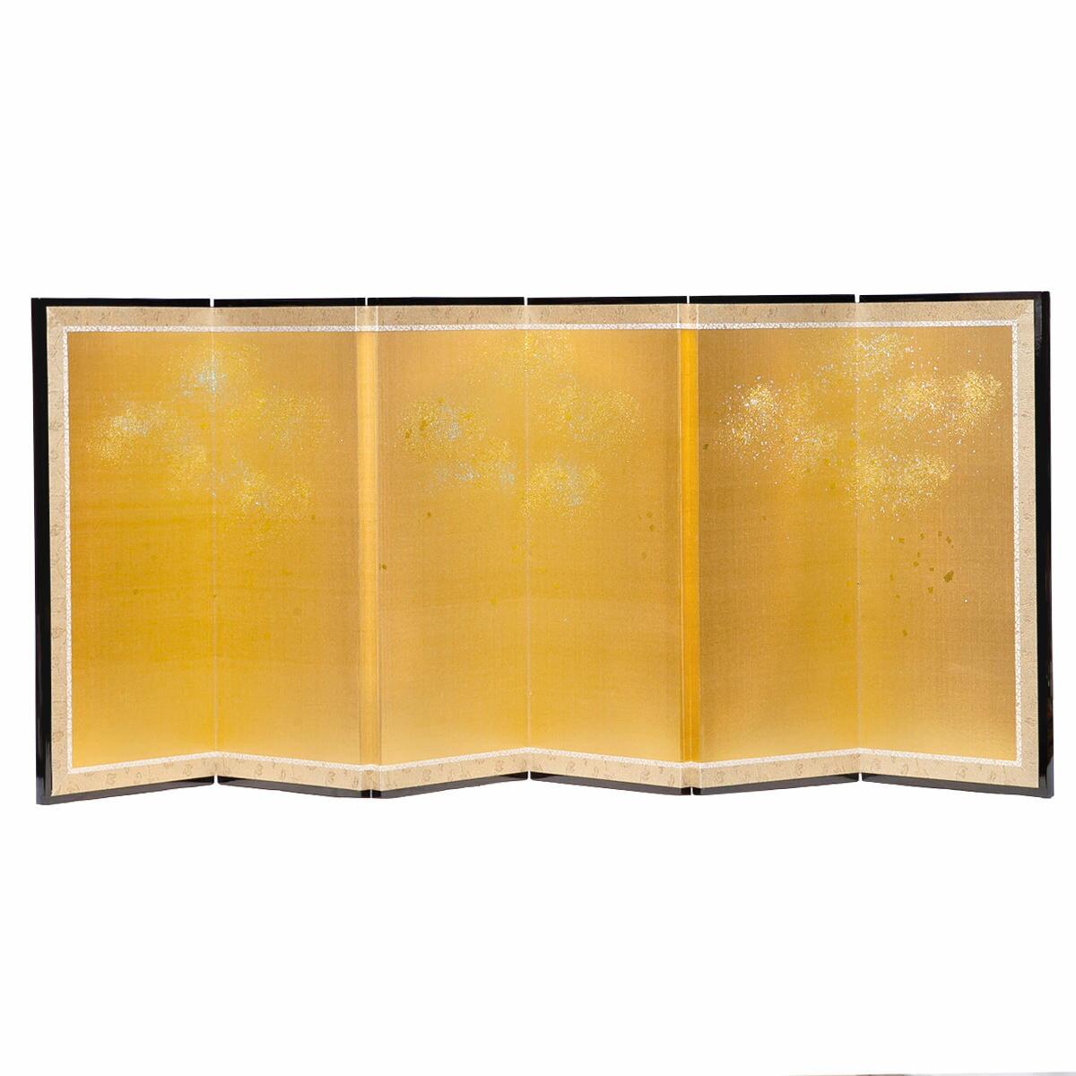 雛人形 単品屏風 六曲一本 砂子屏風 送料無料 [高さ39cm]六曲一本屏風です。三五~京八・十番サイズに合う大きさです。