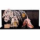ひな人形 立ち雛 京都西陣織 平安優香 花ごろも 送料無料