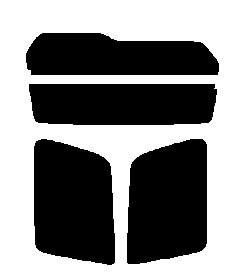 簡単ハードコート パジェロミニ H53A・H58A 後期 カット済みカーフィルム リヤーセット