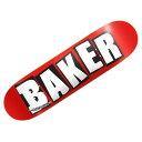 【ベーカー デッキ】BAKER Deck BRAND LOGO WHITE 8.125x31.5