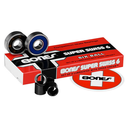 【ボーンズ ベアリング】Bones Super Swiss Six Bearings●スイス 6ボール