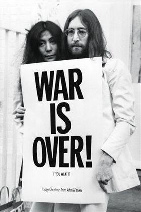 ジョン・レノン/ポスター JOHN LENNON WAR IS OVER フレーム付