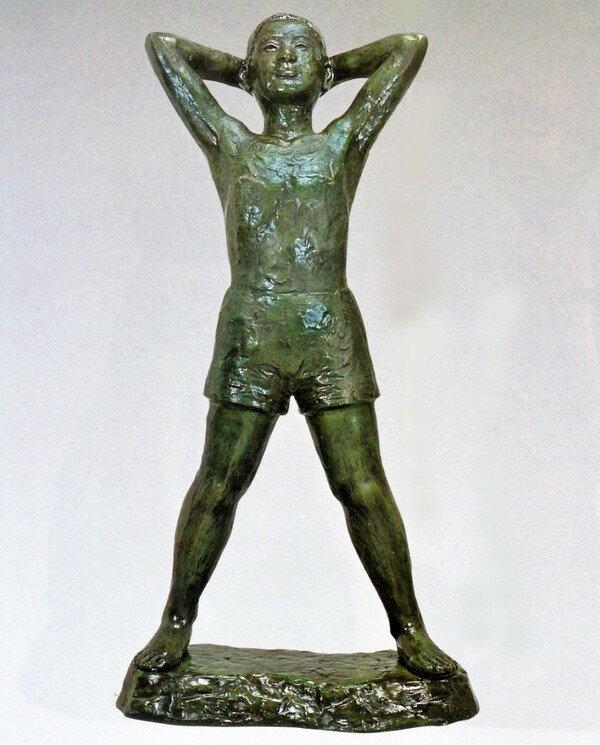 大型ブロンズ像/希望の像 45号 般若純一郎作品 高岡銅器の大型ブロンズ像