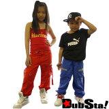 【以3个以上每1个1,995日元】期望的儿童模型登场!DUBSTA KIDs(dabusutakizzu)尼龙工装裤/feflector(18色)【舞蹈 服装 hip hop 服装 裤子 活动[【3本以上で1本1,995+】待望のキッズモデル!DUBSTA KIDs(ダブスタキッ