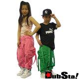 要是舞蹈 服装 hip hop 儿童 孩子用 B系 街舞型男式时尚 大尺寸儿童 裤子HIPHOP DOPE!!【以3个以上每1个1,995日元】[【3本以上で1本当たり1,995】サスペンダー装備で履き方色々!DUBSTA KIDs(ダブスタキッズ)ナイロン