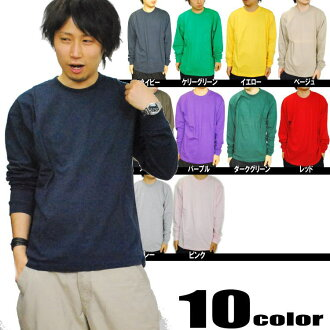DOUBLE (double ) long-sleeved cotton T shirt (12 colors)