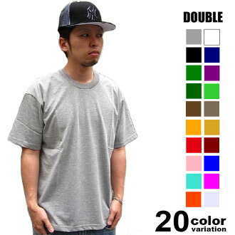 DOUBLE (double ) cotton T shirt (21 colors)