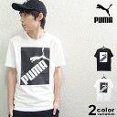 ショッピングブラックボックス PUMA プーマ 半袖 Tシャツ BIG LOGO Tシャツ (puma tシャツ ホワイト ブラック ボックスロゴ 581386 2020年 新作) 【あす楽対応】 【メール便対応】