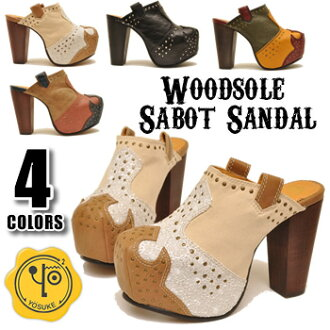 Platform thick bottom サボサンダル successor model now available! Thickness bottom Sabot Sandals Sandals storm YOSUKE U.S.A Yosuke ladies sabot mule sandal