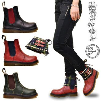 46% Studded Tartan pattern belt Martin type Couleur 2way YOSUKE U.S.A Yosuke shoe store ladies boots punk