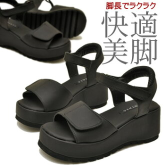 ◆ After arrival ◆ Office Sandals leg wedge thickness bottom Velcro 6.5 cm heel neck strap before thick Sandals nurse Sandals black ladies Sandals ladies sandal