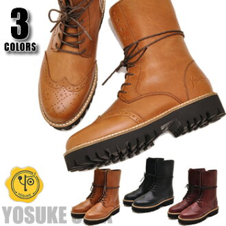 レースアップエンジニアブーツ boots leather boots YOSUKE U.S.A shoes Yosuke ladies boots leather punk