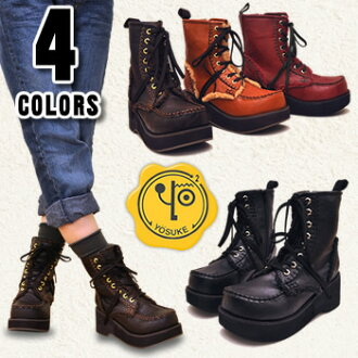 ★ arrival special price! Boa モカステッチ middle-length lace lace-up work boots YOSUKE U.S.A Yosuke shoe store ladies boots