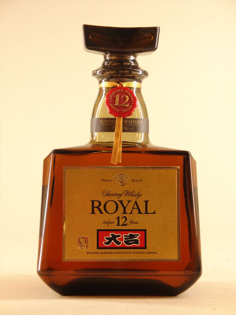 Suntory royal 12 years great good luck label Suntory Royal 12years