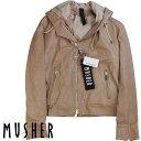 MUSHER マーシャー レディース フード付きレザージャケット LMU19A4056 BEIGE ベージュ