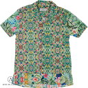 ショッピングアルビオン LOST-IN-ALBION ロスト イン アルビオン メンズ 半袖シャツ LA198012 グリーン