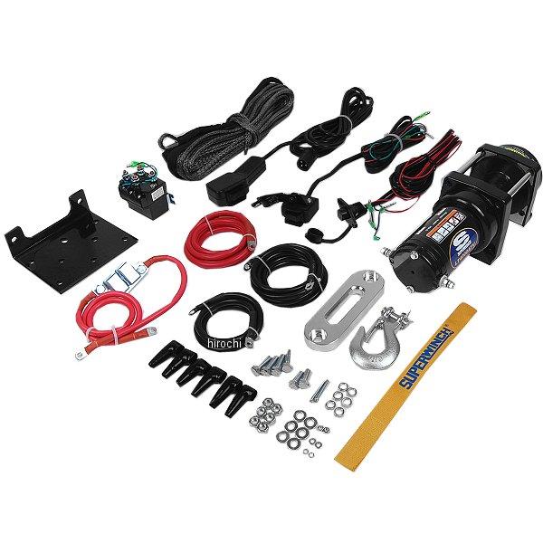 【USA在庫あり】 スーパーウインチ Superwinch ウインチ LT4000 耐1800Kg 有線リモコン合成繊維ロープ 4505-0560 HD