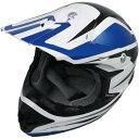 【USA在庫あり】 0110-4099 AFX ヘルメット オフロードタイプ FX-21 ALPHA 青/白 XXLサイズ (64cm-65cm)