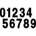 【USA在庫あり】 FX02-4362 ファクトリーFX(FACTORY EFFEX) ナンバー パッチ PRO 8インチ(203.2mm)#2 黒 3枚入り