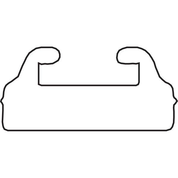 【USA在庫あり】 スノースタッフ Sno Stuff 補修用 スライド 43.5インチ(1105mm) UHMW Mercury 黒 550-041 HD店