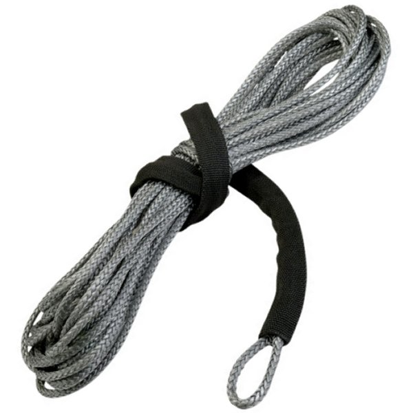 【USA在庫あり】 4505-0343 ムース MOOSE Utility Division ウインチ 合成繊維ロープ 長さ15m 太さ 5mm 耐 1,800Kg グレー