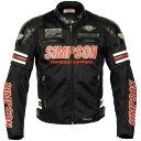 SJ-6115LTD シンプソン(SIMPSON) メッシュジャケット 赤 LWサイズ