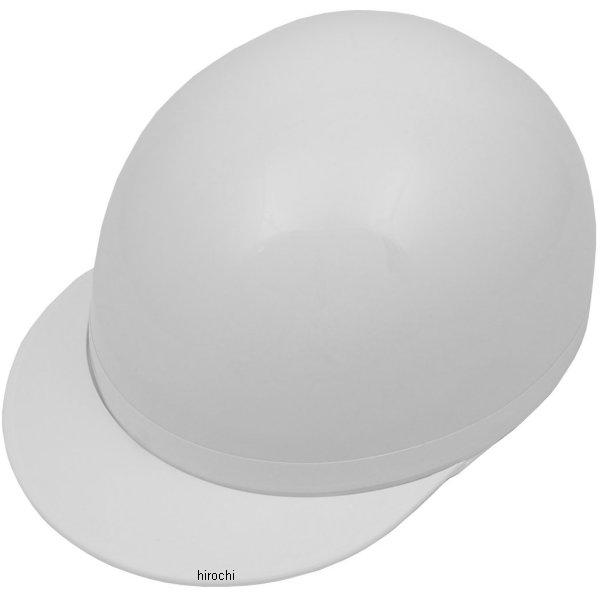 【メーカー在庫あり】 NBS バイクパーツセンター ハーフヘルメット 白ツバ 白 フリーサイズ(57-59cm) 7108 HD店