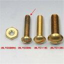 【メーカー在庫あり】 BLT008B イージーライダース マイナスネジ セット 12-24山 1インチ 真鍮 10個入り