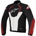 8051194978325 アルパインスターズ Alpinestars 2017年春夏モデル レザージャケット JAWS 黒/白/赤 48サイズ