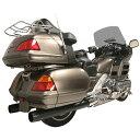 【USA在庫あり】 194550 82115-225-PKG ラッシュ RUSH スリップオンマフラー 4インチ デュアル 2.25インチバッフル 10年-16年 GL1800 黒