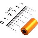 ポッシュ アルミスペーサー 汎用 M6&1/4インチ用 ゴールド T=25 1個 200447-25 JP店