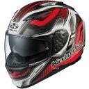 【メーカー在庫あり】 4966094569198 オージーケーカブト OGK KABUTO フルフェイスヘルメット KAMUI 2 HAMMER フラットブラックレッド Lサイズ