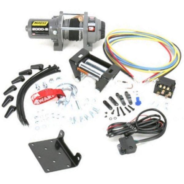 【USA在庫あり】 ムース MOOSE Utility Division ウインチ 900Kg 有線リモコン/合成繊維ロープ 4505-0480 JP