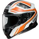 【メーカー在庫あり】 4512048464769 ショウエイ SHOEI フルフェイスヘルメット Z-7 PARAMETER パラメーター TC-8 オレンジ/白 L Lサイズ(59cm)