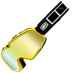 【USA在庫あり】 100パーセント <strong>100%</strong> ゴーグル Barstow Classic Burnworth/ゴールドミラーレンズ/黒 白ストラップ 2601-2565 JP店