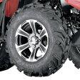 【USA在庫あり】 0331-1060 44291L ITP ホイールとタイヤのキット アロイ 27x11R14 黒コントラスト リア 左