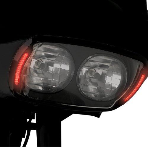 【USA在庫あり】 2001-0131 CV-4852 サイクルビジョン Cycle Visions ヘッドライトベゼル ウインカー連動LED付き 黒/スモークレンズ 【送料サービス】