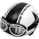 【メーカー在庫あり】 RH205 バンチ(VANCH) ヘルメット ビンテージ 白/黒 フリーサイズ(57-60cm)