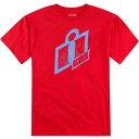 3030-11072 アイコン(ICON) Tシャツ DOUBLE UP 赤 2XLサイズ