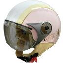 4580184031350 ダムトラックス(DAMMTRAX) ヘルメット NEW RABEE 女性用 ピンク/アイボリー レディースサイズ(57cm-58cm...
